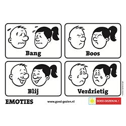emotie kleurplaat de vier basisemoties goed gezien nl